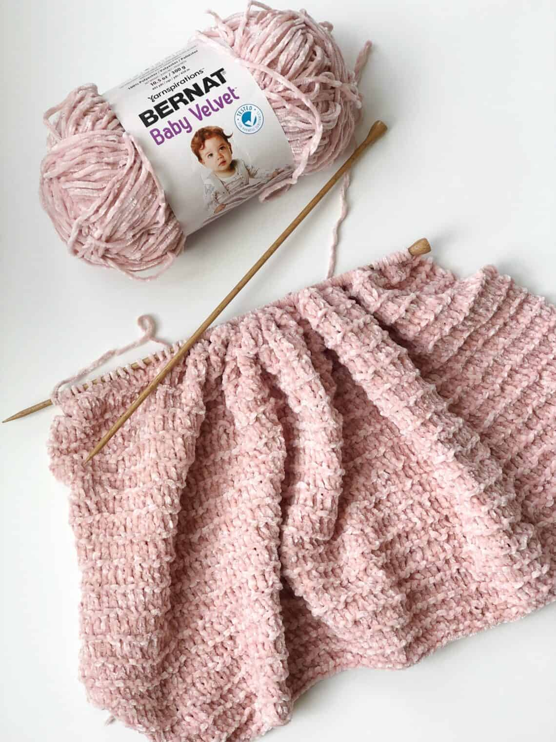 Knitting with velvet yarn. How to knit with velvet yarn